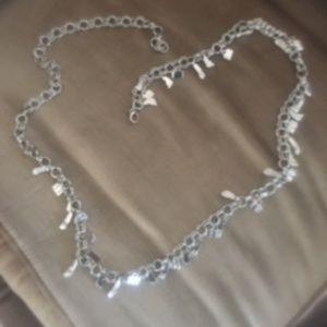 Silvertone Charm Chain Belt - 46